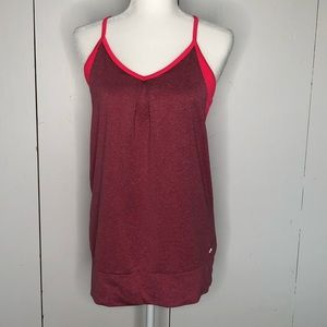 Champion workout top with built in bra, size L